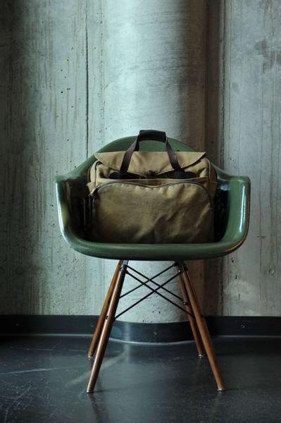 Tin-Cloth Briefcase in Tan