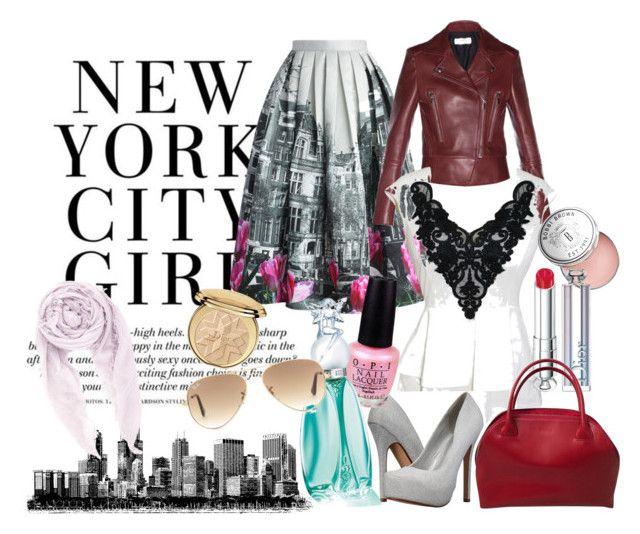 """Urban Girl"" by ibuperi on Polyvore featuring Chicwish, Balenciaga, Call it SPRING, Bobbi Brown Cosmetics, OPI, Anna Sui, Christian Dior, Furla, Ray-Ban and Chan Luu"