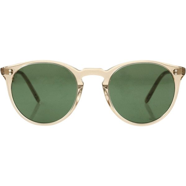 Oliver Peoples O'malley Nyc Sunglasses ($450) ❤ liked on Polyvore featuring accessories, eyewear, sunglasses, glasses, items, lentes, oliver peoples, oliver peoples sunglasses, oliver peoples eyewear and oliver peoples glasses