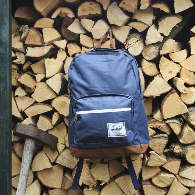 """The Black Pop Quiz bag from Herschel Supply Co. is the more detailed older brother of the staple """"Classic"""" backpack."""