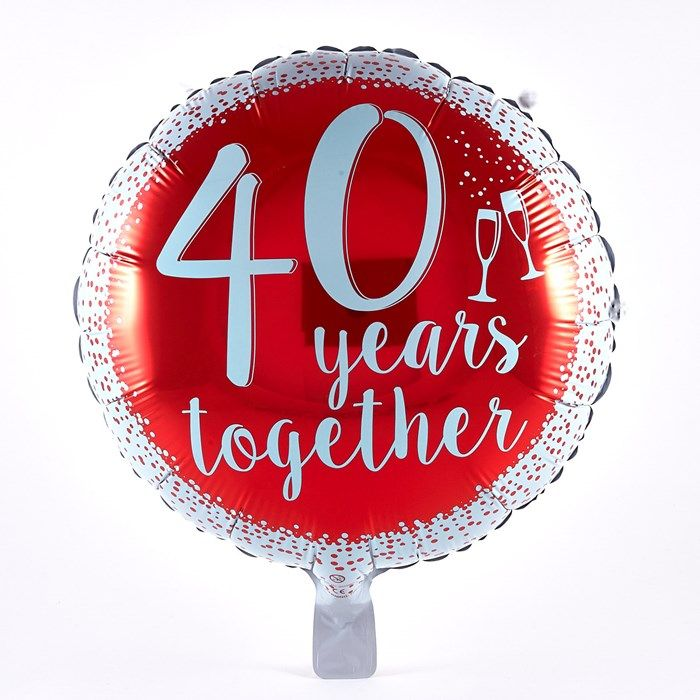 84d26e4580a Our ruby red balloon is perfect for a 40th anniversary party! Shop now!