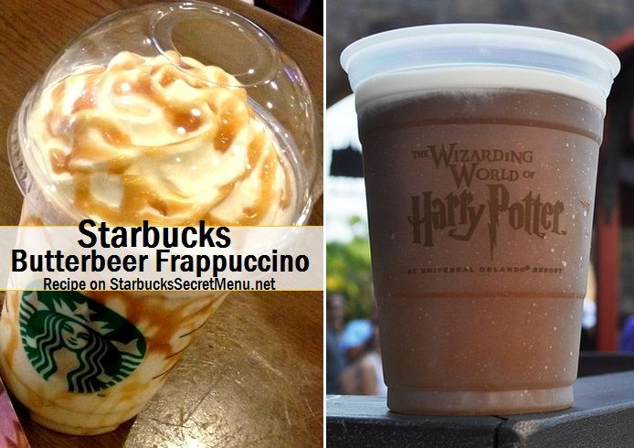 Butterbeer Frappuccino for all the Harry Potter fans! #StarbucksSecretMenu Order by recipe here: http://starbuckssecretmenu.net/starbucks-secret-menu-butterbeer-frappuccino/