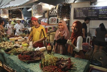 Kuching street food stall.