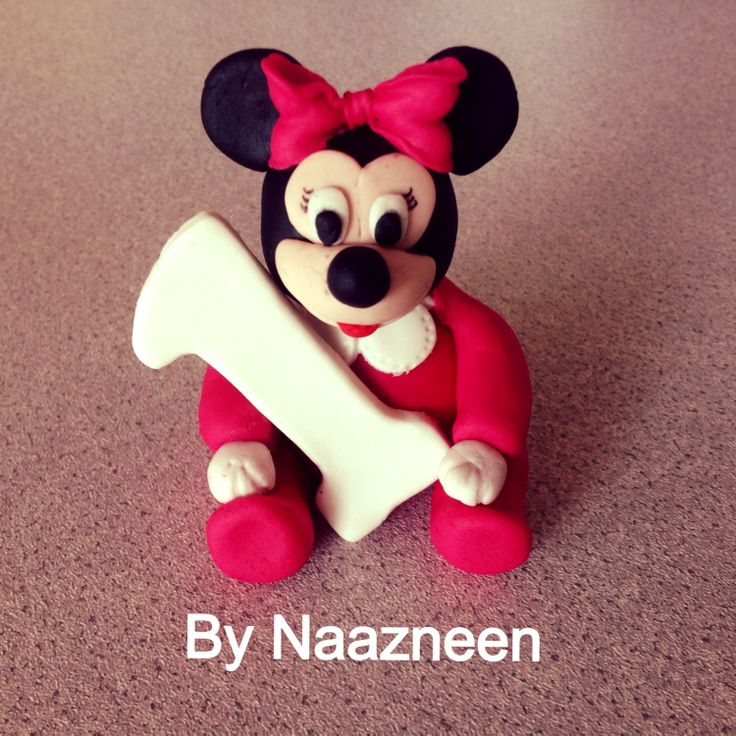 Baby Minnie cake topper by Naazneen