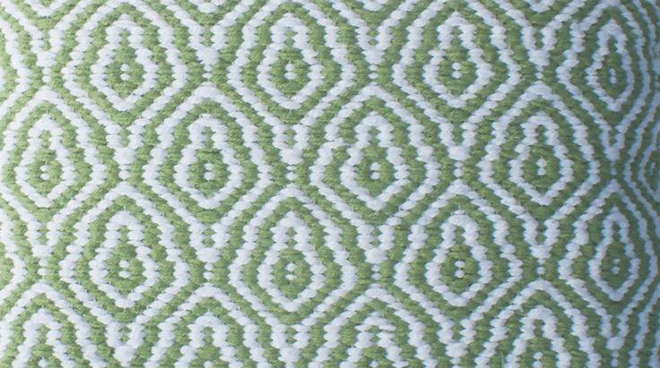 Kussen grof geweven mintgroen-wit 40 x 40 cm - Borduur - Print - Sierkussens - kussens, poefen, zitkussen, krukjes, plaids - kopen bij De Kussencompany!