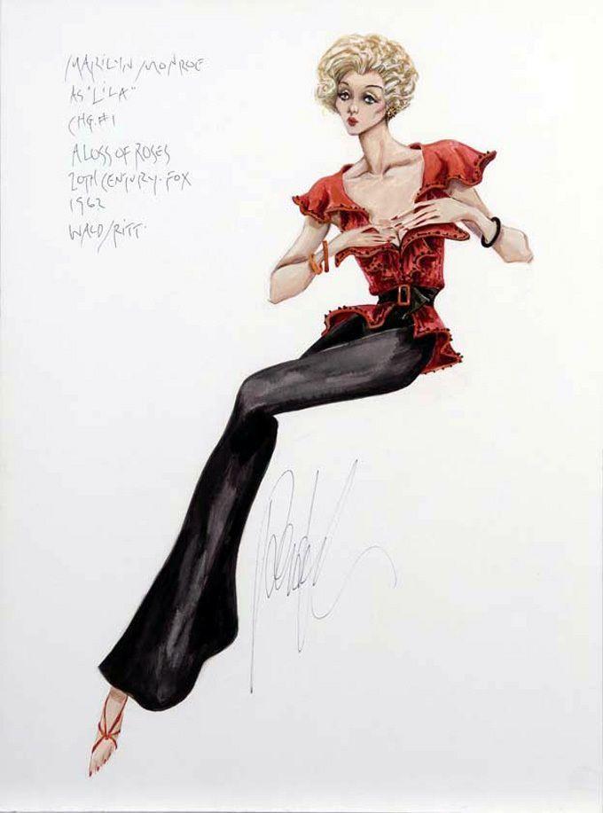 Marilyn Antoinette  Print of Original Pencil Fashion Illustration