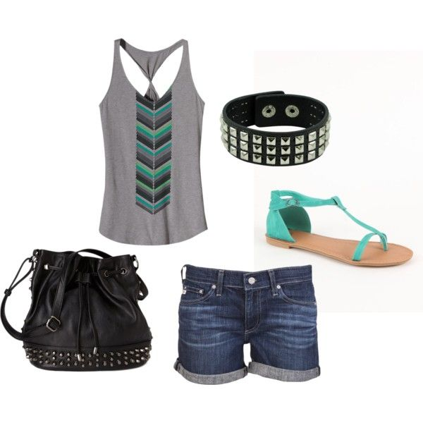 """edgy summer outfit."" by alleyswag on Polyvore"