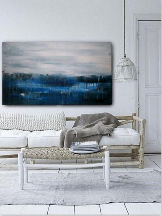"ARTFINDER: Ocean drift No3 by dimitris pavlopoulos - Acrylic Abstract Painting, Original artwork created by dimitris pavlopoulos. Size: width:47.2 "" (120cm) x Height: 27.6"" (70cm) depp: 0.7'' (1.8cm)   You w..."