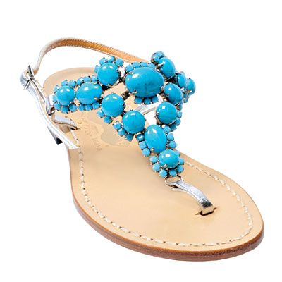 I'd actually rather have this as an earring, hair jewelry, or necklace than a shoe topper!Blue Sandals, Summer Sandals, Fun Shoes, Style, Beach Bags, Spring Summer, Flats Shoes, Summer Colors, Hot Summer