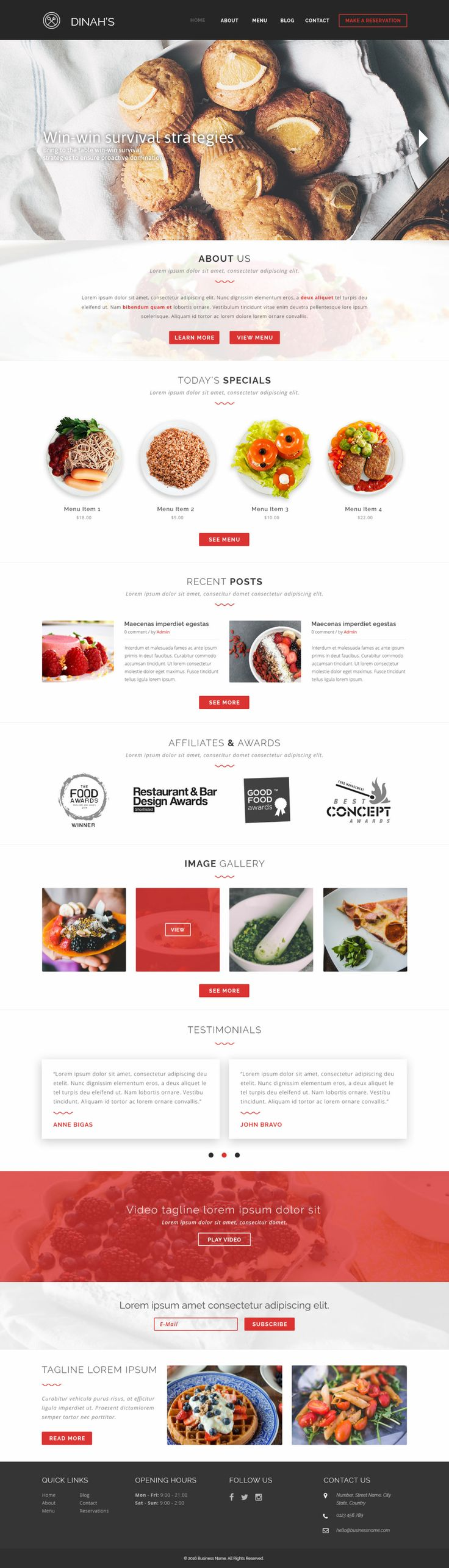 Check out our web design for cafe and restaurant business. If you're looking for a website for your business at an affordable price, please visit http://AffordableWebsites.ca  #website #webdesign #webdevelopment #food