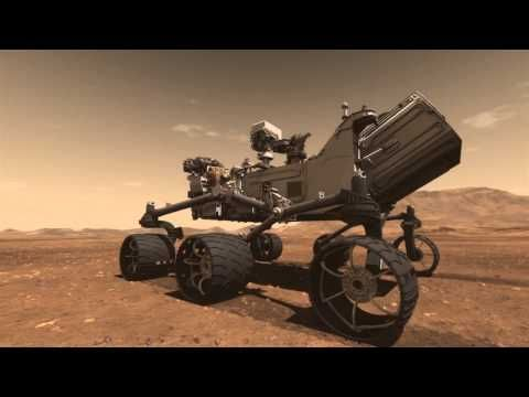 Mars Science Laboratory Curiosity Rover Animation - this also shows what the rover will do after it lands