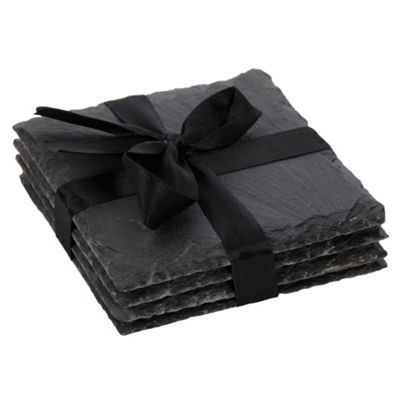 RJR.John Rocha Set of four dark grey slate coasters- at Debenhams.com