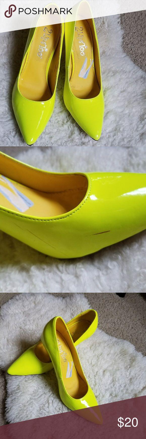 2 Lips Too Yellow Neon Pumps Yellow Neon Pumps 2 Lips Too Shoes Heels