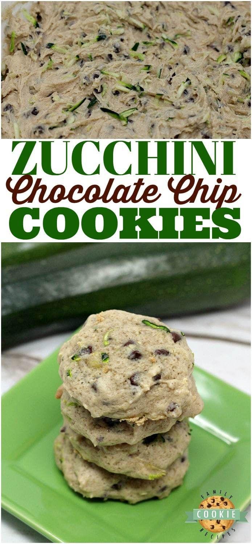 Zucchini Chocolate Chip Cookies sind so weich und lecker, und das ist ein köstliches …