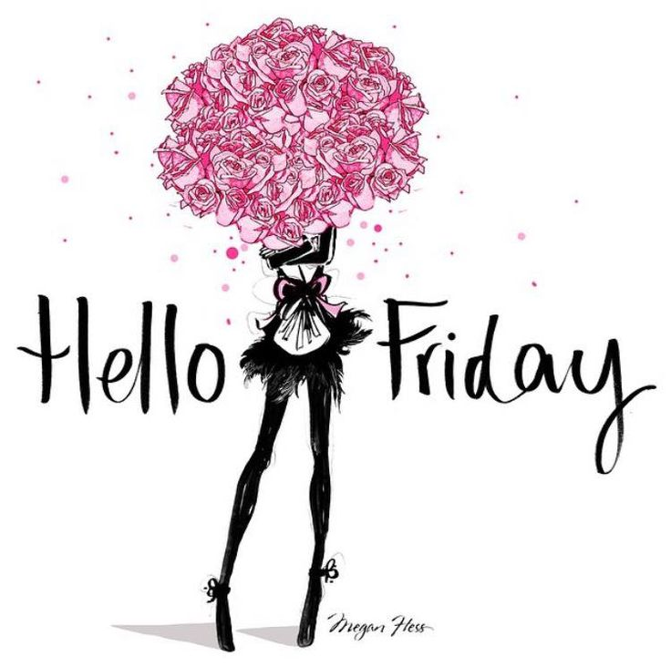 Hello FRIDAY! / Megan Hess Illustration                                                                                                                                                     More