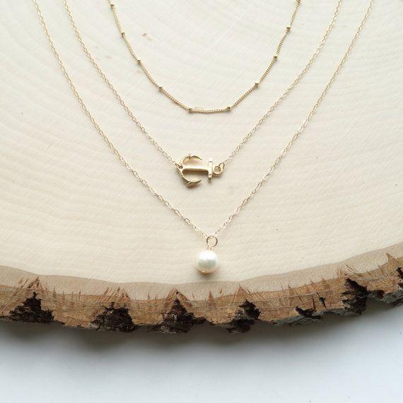 Collana di perle, collana di ancoraggio, strato d