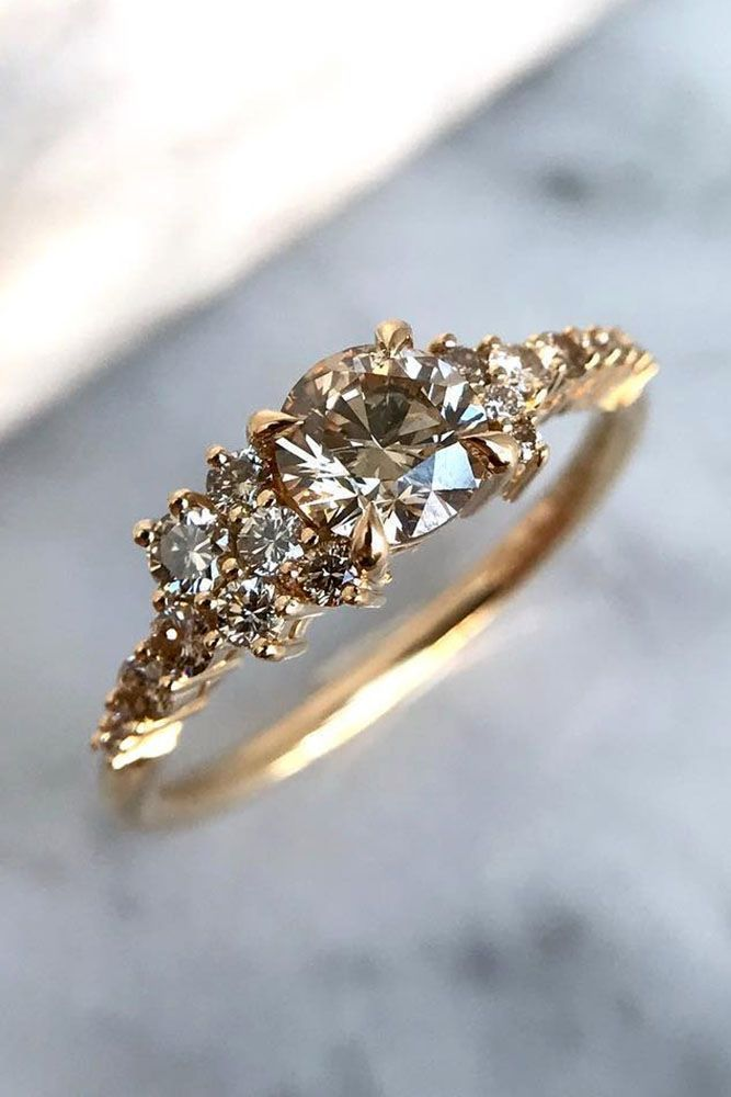 33 TOP Engagement Ring Ideas ❤️ top engagement ring ideas unique rose gold diamond round cut ❤️ See more: http://www.weddingforward.com/top-engagement-ring-ideas/ #weddingforward #wedding #bride #engagementrings