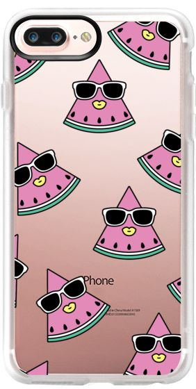 Casetify iPhone 7 Plus Case and iPhone 7 Cases. Other Watermelon iPhone Covers - Watermelon Girl by  Krystan Saint Cat | Casetify