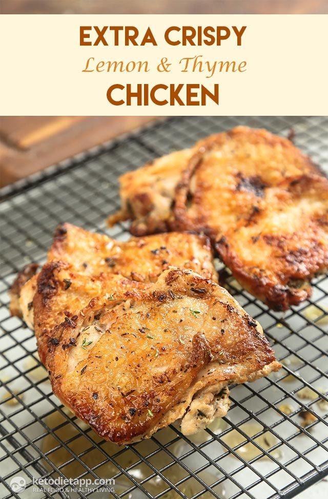 Extra Crispy Lemon & Thyme Chicken (low-carb, keto, paleo)