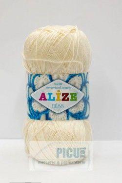 Poze Fir de tricotat sau crosetat - Fir BUMBAC 100% ALIZE MISS CREAM 62
