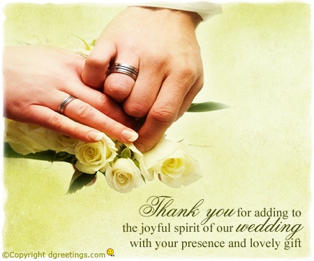 Dgreetings    Beautiful way of saying Thanks on Ur Wedding to your loved ones.........:)