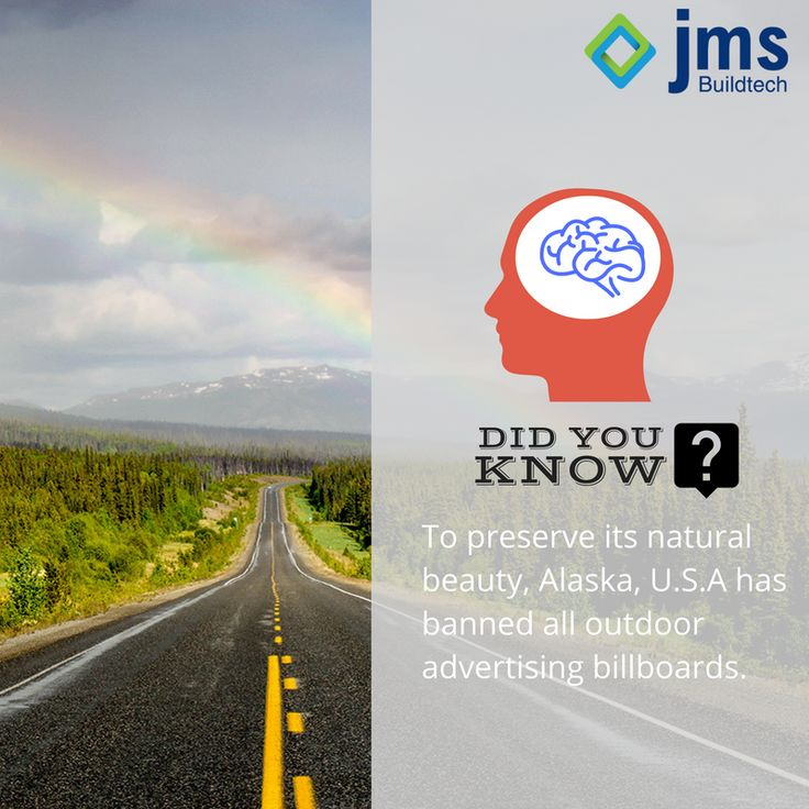 Did you know to preserve its natural beauty, Alaska, U.S.A has banned all outdoor advertising billboards? #Didyouknow #RealEstateTrivia