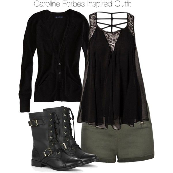 """The Vampire Diaries - Caroline Forbes Inspired Outfit"" by staystronng on Polyvore"