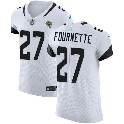 c4453e09f37 Nike Jaguars  27 Leonard Fournette White Men s Stitched NFL Vapor  Untouchable Elite Jersey