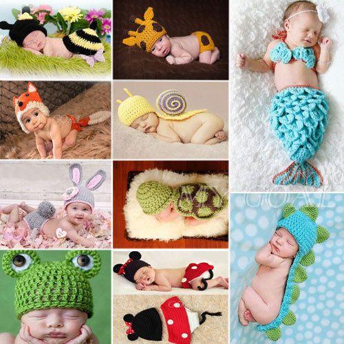 $7.99 Rabbit - Baby Infant Newborn Aminal Knit Costume Photography Prop Crochet Beanie Hat Cap