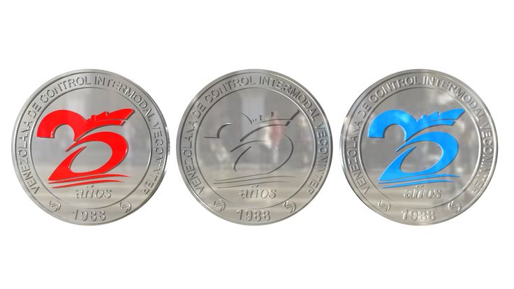 Modelado de monedas - 25 aniversario - Cliente: Venezolana de control