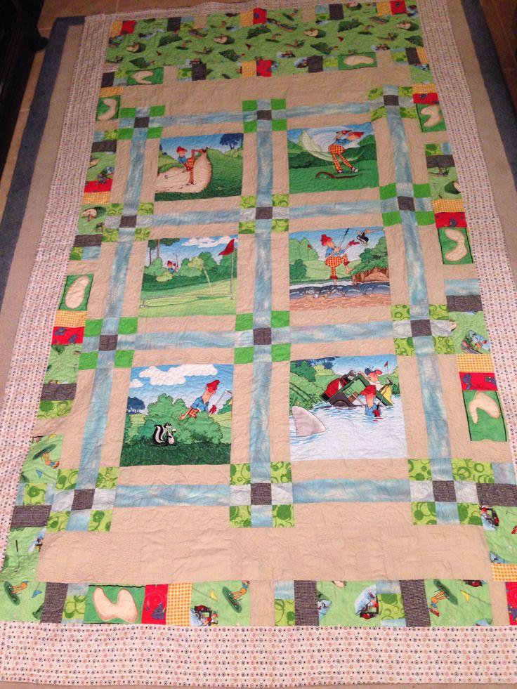 29 best Quilts, Golf images on Pinterest | Quilt patterns ... : golf quilts - Adamdwight.com