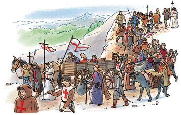Dit is een kruistocht kruistochten werden gehouden om niet christenen tot het christendom te bekeren. Dat werd gedaan door missionarissen  Missionarissen: zijn mensen die de kruistochten leiden en andere mensen tot het christendom bekeerden.