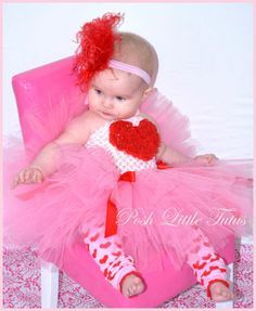 valentine pageant dresses for babies | Rosette Baby Crochet Tutu Dress, Valentines Day Baby Tutus, Valentines ...