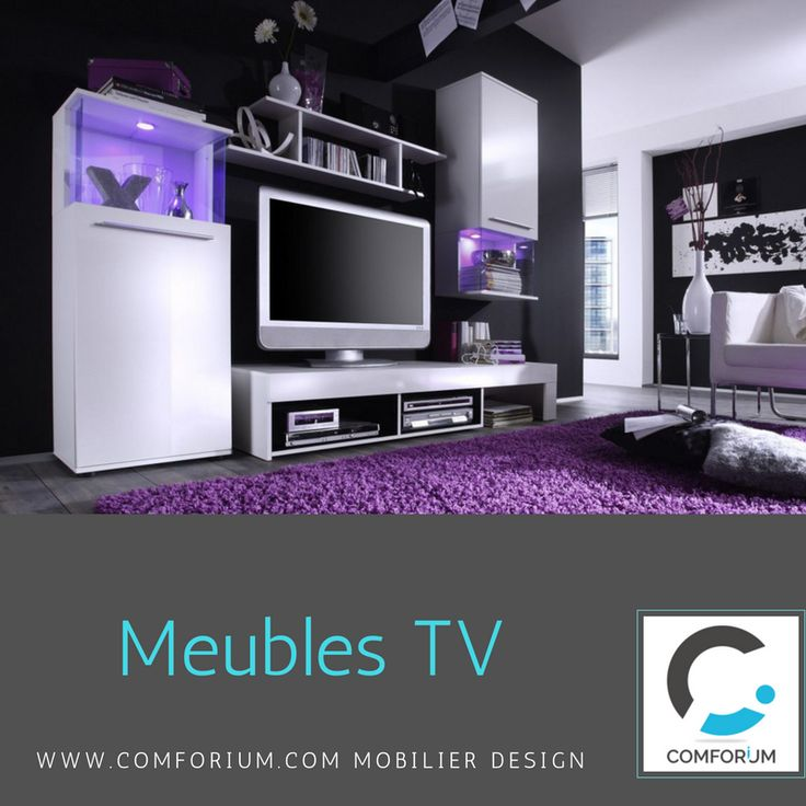 ensemble meuble tv ultra design blanc - Meuble Tv Ultra Design