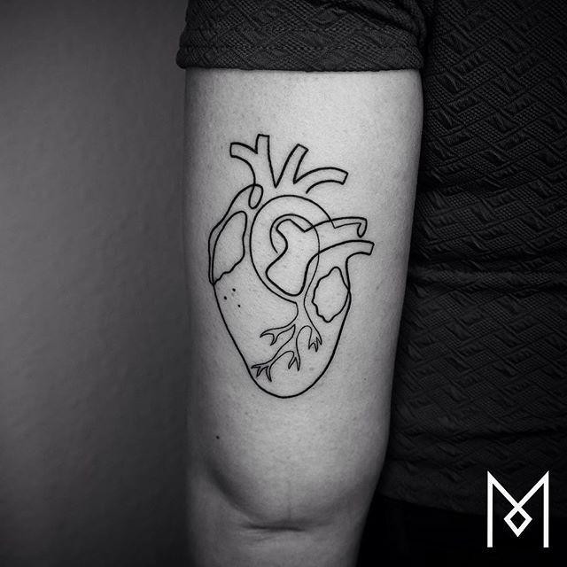 ❤️ #heart #moganji #singleline