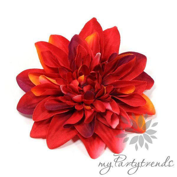 farbintensive Haar-/Ansteckblume in rot, Ø12cm von Boutique für wundervolle Accessoires zum Liebhaben! auf DaWanda.com