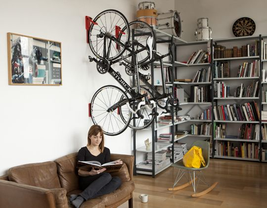 In areas where biking is prevalent or square footage is limited add a bike rack to your apartments. Over 70% of households have at least one bicycle. As a cyclist I can tell you this is one of the best because it minimalistic and it works for regular or full-suspension models. As a multifamily marketing manager I like that it protects the wall with wide rubber contact points on both wheels, and it comes in 7 colors. The Cycloc Endo retails for about $75. #NerdMentor