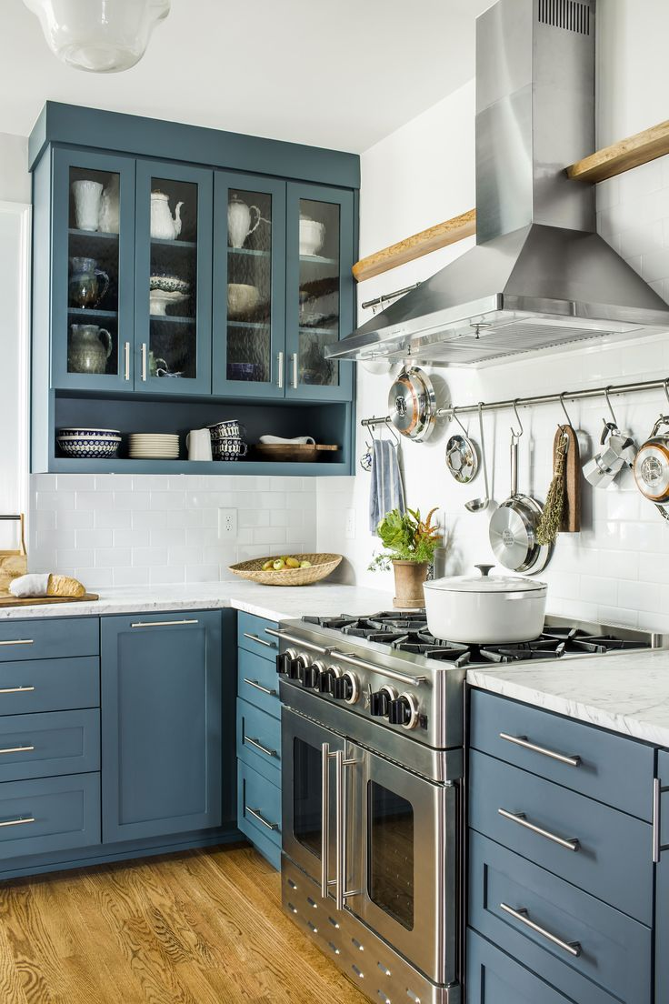 589 best images about kitchens on pinterest Kitchen cabinet blue