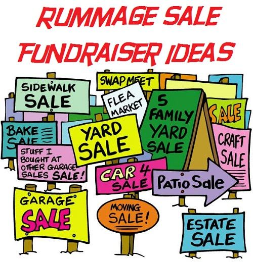 Rummage Sale Fundraiser Ideas - Tips on doing a fundraising rummage sale for your school, church, or cause.