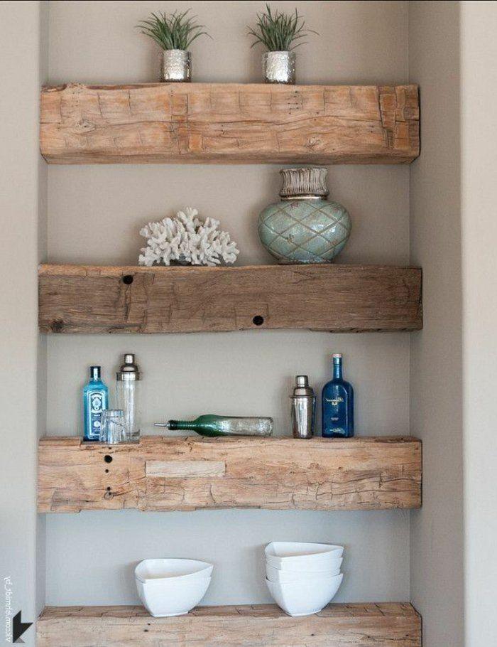 les meubles en bois brut sont une jolie touche nature pour lintrieur archzinefr - Badezimmer Etagere