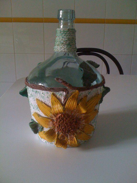 Nuestras botellas decoradas bottle art bottle and decoupage - Botellas decoradas manualidades ...