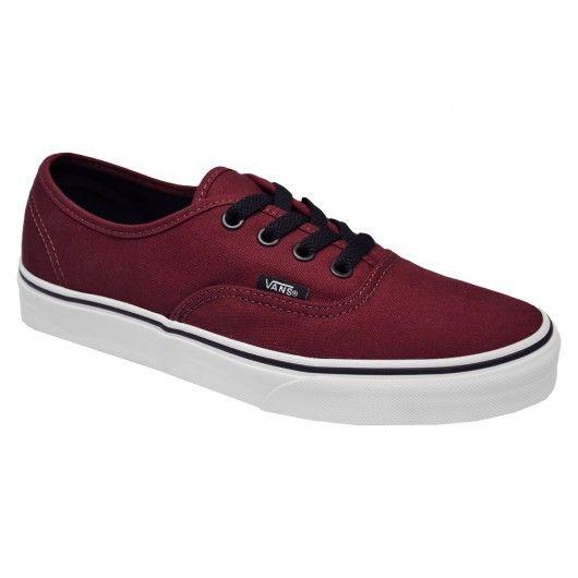 Vans Authentic Port Royale rouge bordeaux basket mode sportwear chaussures mixte 65€