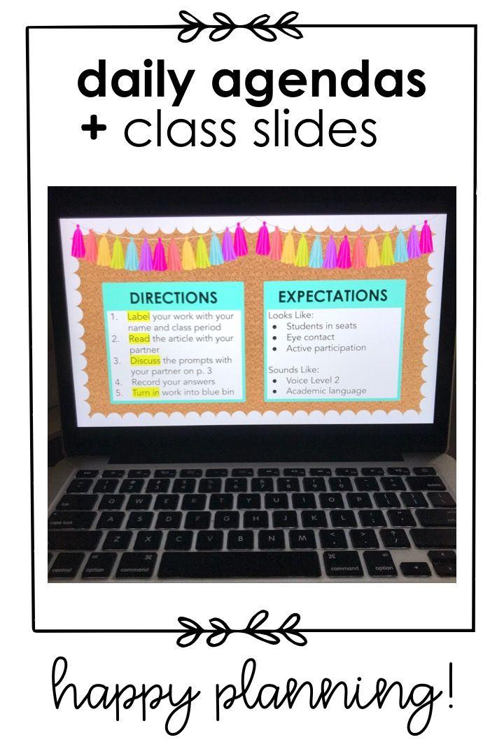Daily Agenda Google Slides Set 6 Resource Classroom Classroom