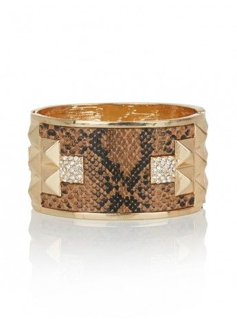 Snake Cuff  | This brown and gold snake cuff makes a bold statement that will accent any outfit beautifully.