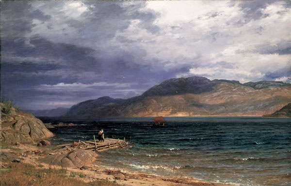 Amaldus Clarin Nielsen (1838-1932): Ænes Hardanger, 1886
