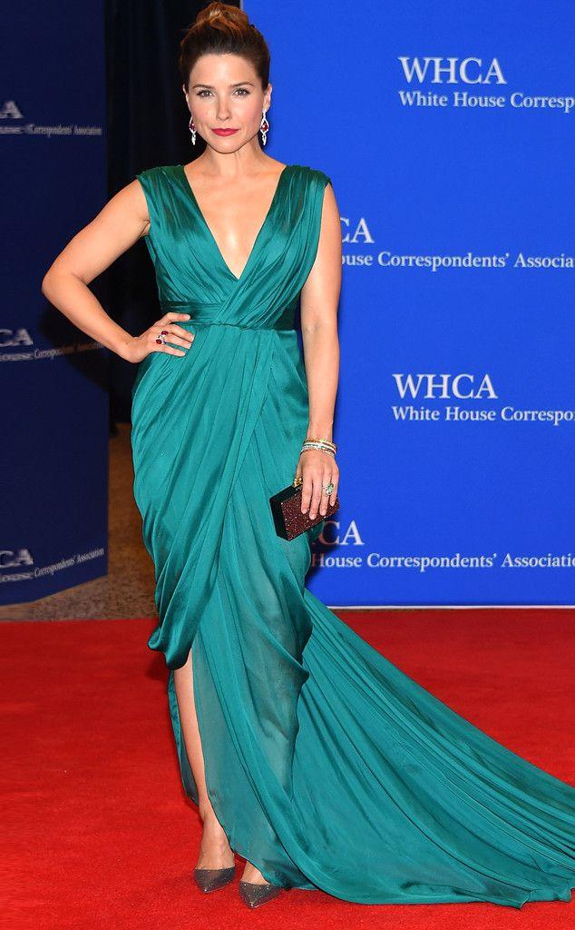 Sophia Bush from 2015 White House Correspondents' Dinner: Star Sightings   E! Online