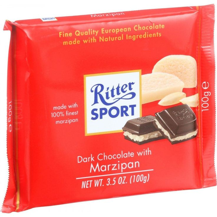 Ritter Sport Chocolate Bar - Dark Chocolate - Marzipan - 3.5 Oz Bars - Case Of 12