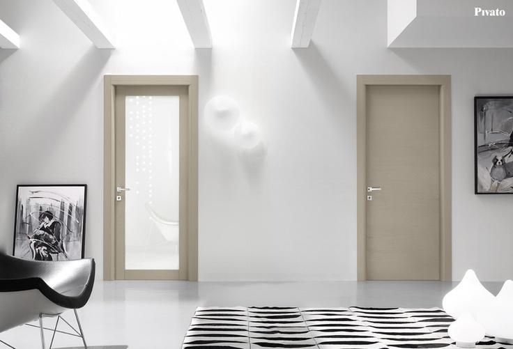 Porte interne in legno vetrate e cieche