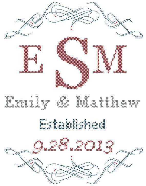 52 best Needlework - Wedding Samplers images on Pinterest   Cross ...