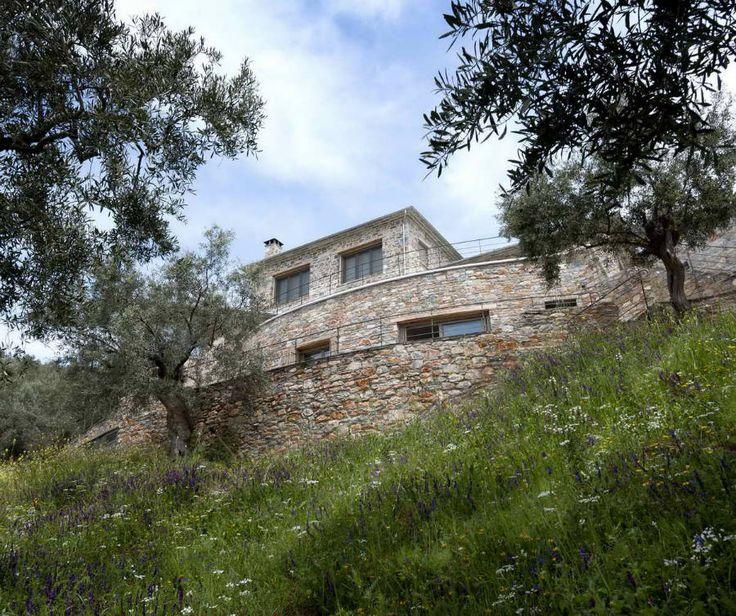 Mountain Stone House Lefokastro, Pelion, Greece by Dimitri Philippitzis